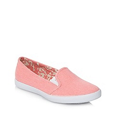 Red Herring - Dark peach canvas slip on trainers