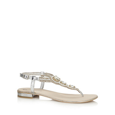 Red Herring - Silver embellished sandals
