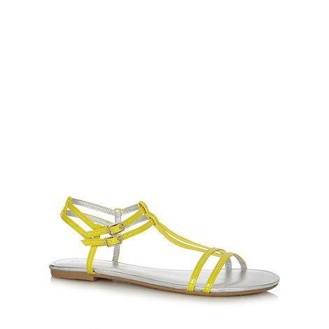 Red Herring - Yellow T-bar flat sandals