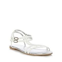 Red Herring - White T bar flat sandals