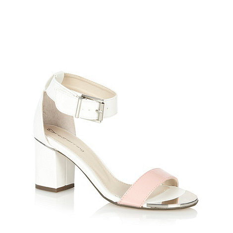 Red Herring - White colour block mid sandals