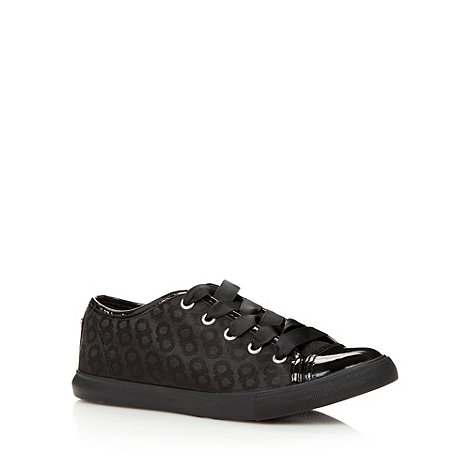 The Collection - Black lace up +Milan+ trainers