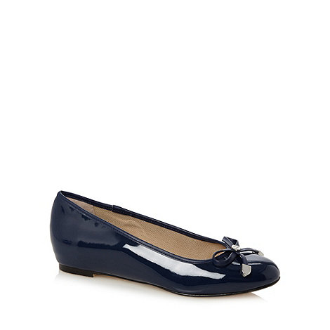 The Collection - Blue bow patent pumps
