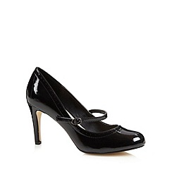The Collection - Black patent mary jane high court shoes