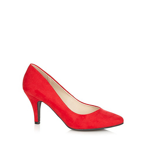 The Collection - Red pointed toe high court shoes