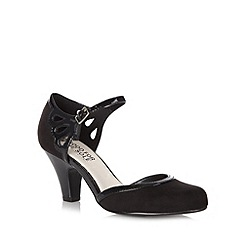 Good for the Sole - Black wide fit patent trim court shoes