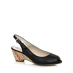 Good for the Sole - Black weave wedge heel wide fit sandals