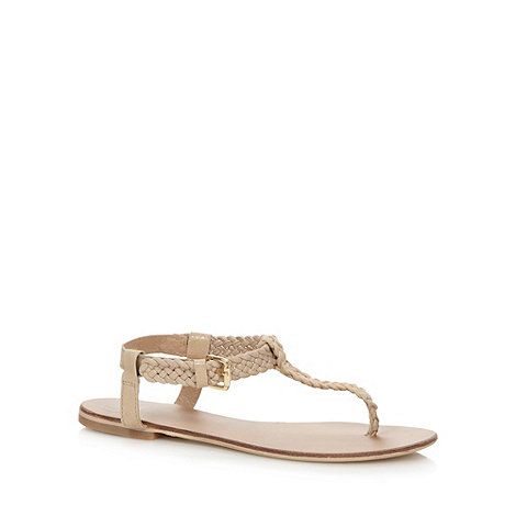 Mantaray - Gold plaited strap sandals