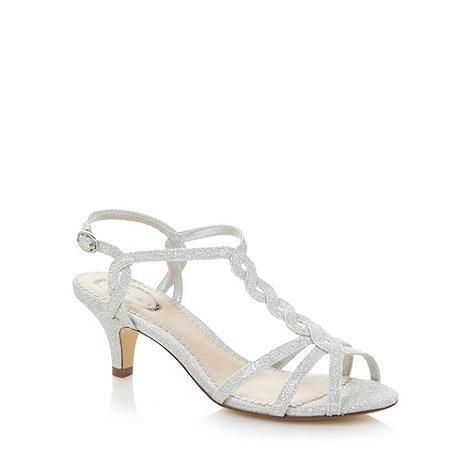 Debut - Silver glitter twist mid sandals