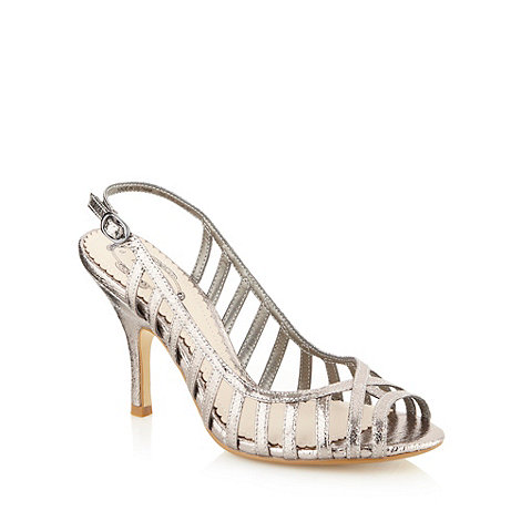 Debut - Silver metallic caged high sandals