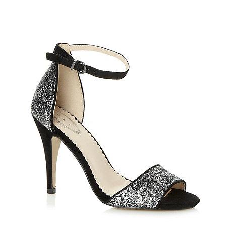 Debut - Black glitter strap high sandals