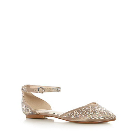 Debut - Natural diamante embellished pumps