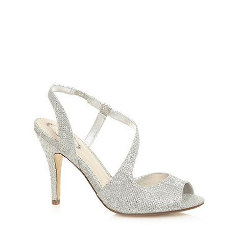 Debut - Silver metallic high curve sandals