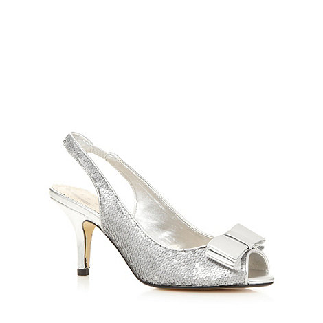 Debut - Silver sequin bow mid sandals