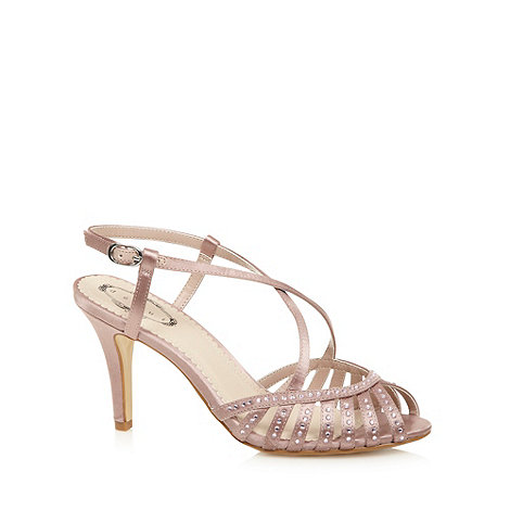 Debut - Rose satin rhinestone high sandals