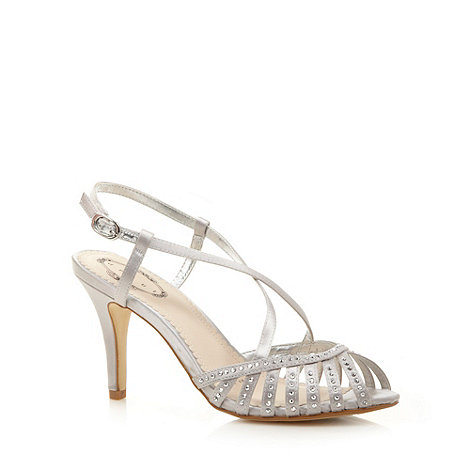 Debut - Silver jewelled strap heeled sandals