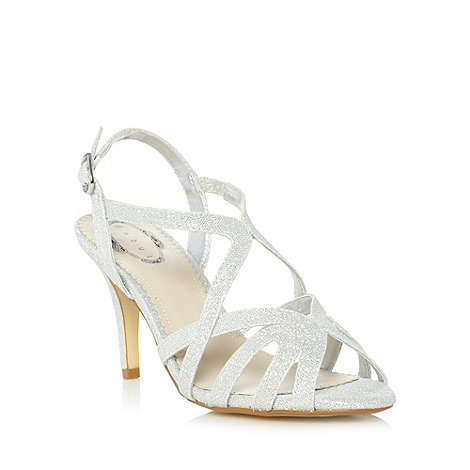 Debut - Silver metallic loop strap high sandals