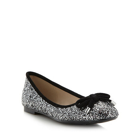Debut - Black glitter pumps