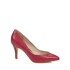 Red Herring - Pink faux snakeskin pointed toe court shoes