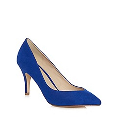 Red Herring - Blue pointed toe high heel court shoes