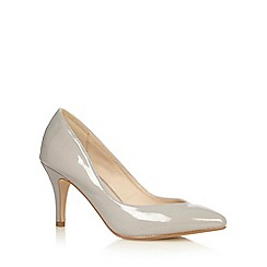 Red Herring - Grey patent pointed toe high court shoes