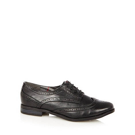 Red Herring - Black lace up brogues