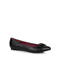 Red Herring - Black bow trim pumps