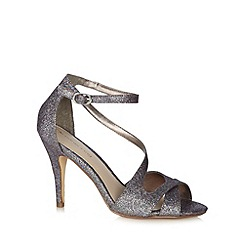 Red Herring - Grey glitter strap high heel sandals