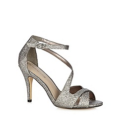 Red Herring - Silver glitter high sandals