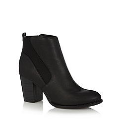 Red Herring - Black gusset high ankle boots
