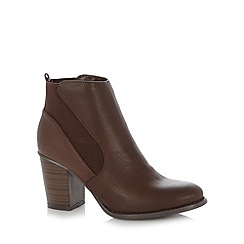 Red Herring - Brown gusset high ankle boots