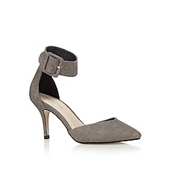 Red Herring - Grey reptile print high pointed toe court shoes