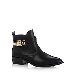 Red Herring - Black buckled ankle boots