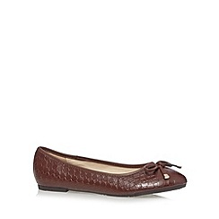 Red Herring - Brown weave effect pumps