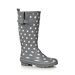 Mantaray - Grey spotted rubber wellies