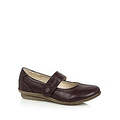 Good for the Sole - Purple strap stitched  wide fit pumps