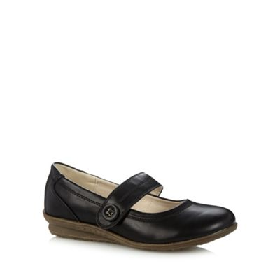 Good for the Sole Black button strap wider fit shoes - . -