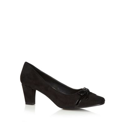 Good for the Sole Black bow trim wider fit mid court shoes - . -