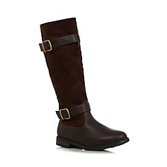 Good for the Sole - Chocolate suedette wide fit high leg boots