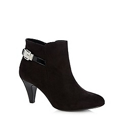 Good for the Sole - Black mock buckle mid ankle boots