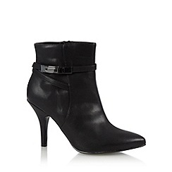 The Collection - Black buckle high ankle boots