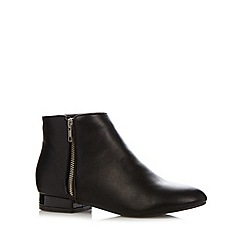 The Collection - Black zip ankle boots