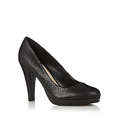 The Collection - Black leather snake high court shoes