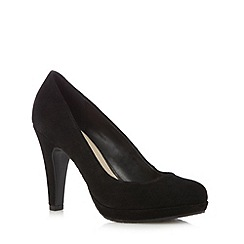 The Collection - Black suede high court shoes