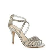 Debenhams Shoes Womens Light Grey And Silver