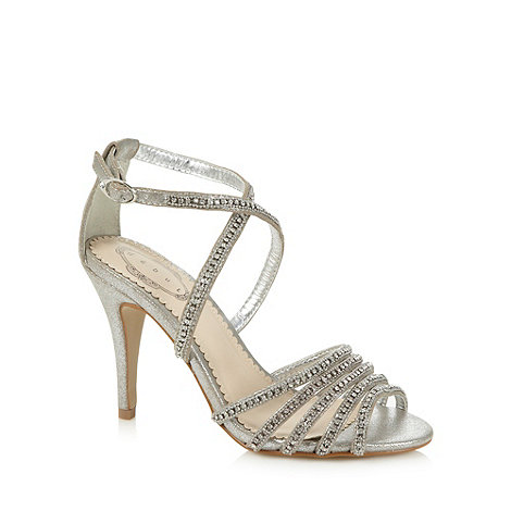 Debut - Silver embellished strap high sandals