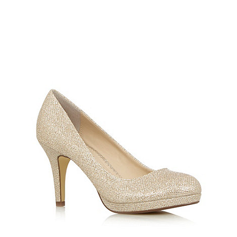 Debut - Light gold metallic high court shoes