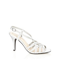 Debut - Silver glitter strap high sandals