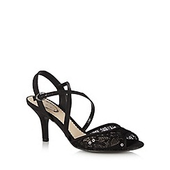 Debut - Black sequin textured high heel sandals