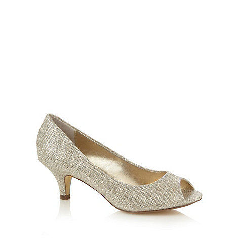 Debut - Gold glitter mid court shoes